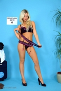 Sexy Blonde Zuziana Reveals Her Sexy Lingerie Before Stripping - Picture 14