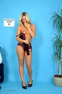 Sexy Blonde Zuziana Reveals Her Sexy Lingerie Before Stripping - Picture 15