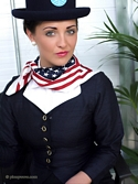 Gorgeous Brunette Air Hostess Daisy Watts Gives The Perfect Mile High Tease - Picture 2